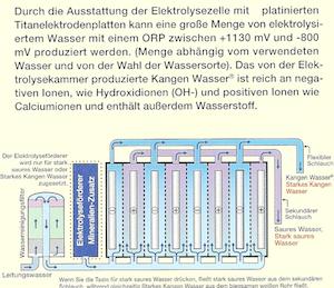 Elektrolysekammer Quelle: Enagic Prospekt