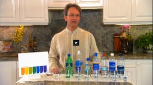 Bob Gridelli demonstrating Kangen Water