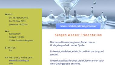 Kangenwasser Präsentation im Februar 2013