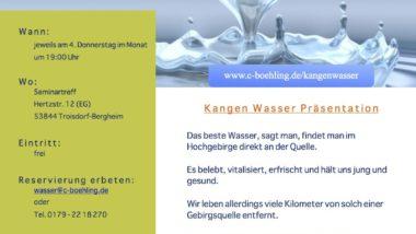 Kangenwasser-Präsentation